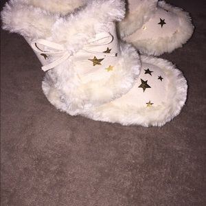 Other - Cream and gold babygirl faux fur boots